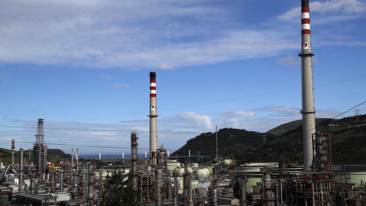 La refinería Petronor en la localidad vizcaína de Muskiz.
