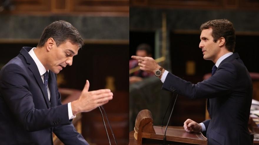 Casado quiere que Sánchez aclare el miércoles al Congreso si también piensa romper relaciones con ERC, PDeCAT y Bildu