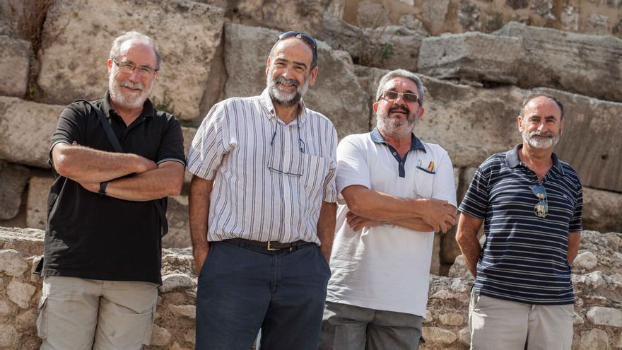 Los cuatro montañeros aragoneses. Foto: Juan Manzanara