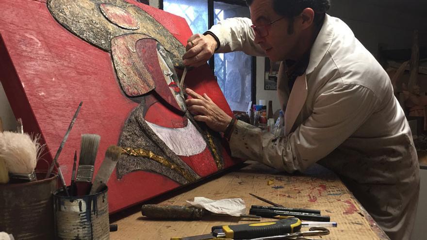 Alberto Romero trabajando en una de las obras