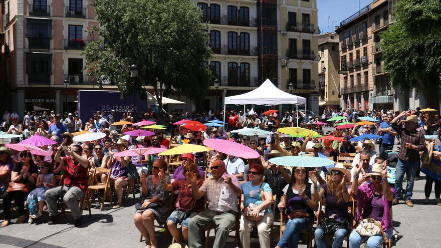 Público en el mitin de Unidos Podemos en Toledo