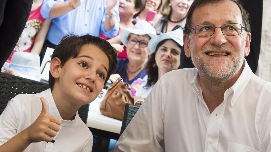 Mariano Rajoy en un acto de campaña.