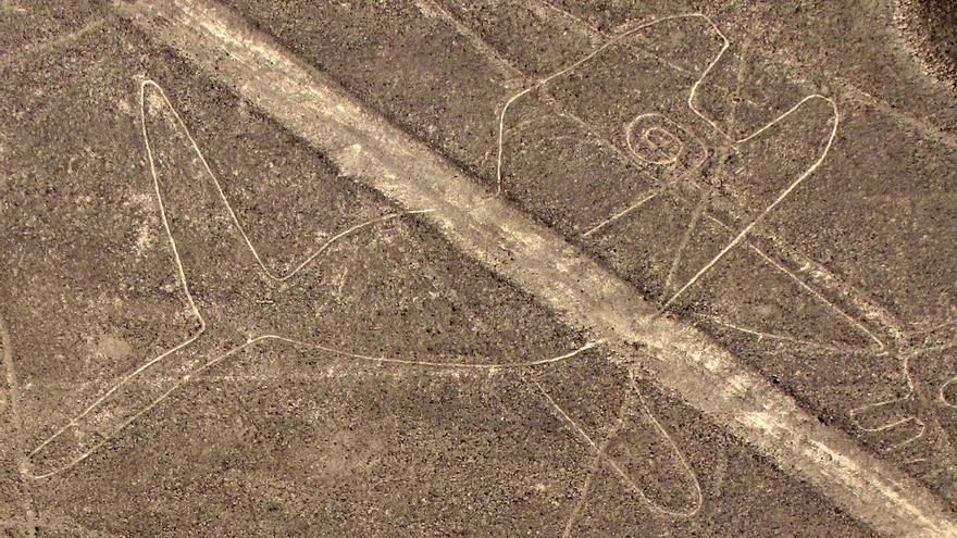 La ballena, uno de los geoglifos más famosos de Nazca.