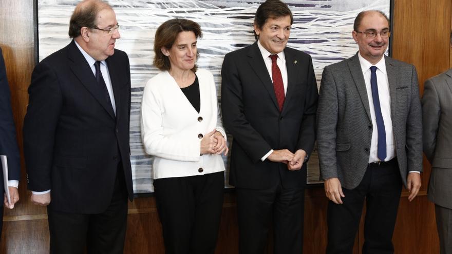 Los presidentes de Castilla y León, Asturias y Aragón se  han reunido este miércoles con la ministra para la Transición Ecológica, Teresa Ribera