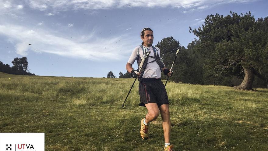 Óscar Pérez en la carrera de 93 kilómetros de la segunda edición del Ultra Trail Valls d'Àneu.
