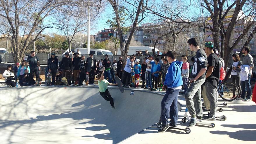 El Santa Skate Park el día de su inauguración el 14 de frebrero. / Ayto. de Santa Coloma de Gramanet