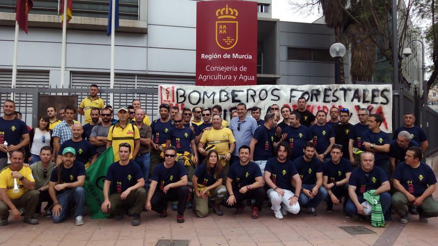 Las brigadas forestales de la Región de Murcia exigieron mejores condiciones laborales frente a la Consejería