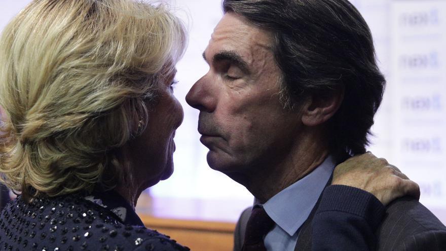 José María Aznar y Esperanza Aguirre