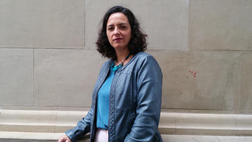 Esther González preside la Asociación de Mujeres Tigadaura. Foto: LUZ RODRÍGUEZ.