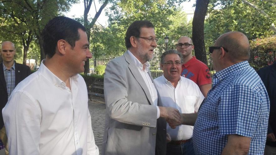 Rajoy acude este jueves a 'feudos socialistas' de Andalucía y Extremadura con actos en Huelva, Badajoz y Sevilla