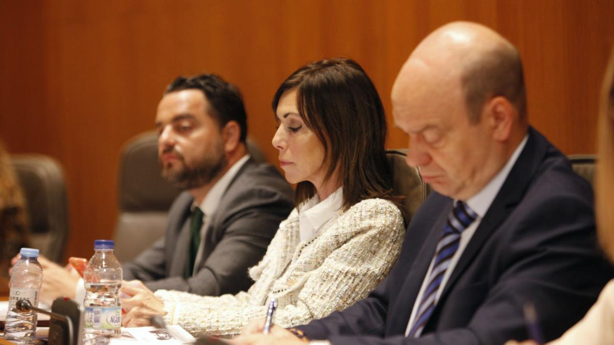 De izda a derecha, David Arranz, Marta Fernández y Santiago Morón