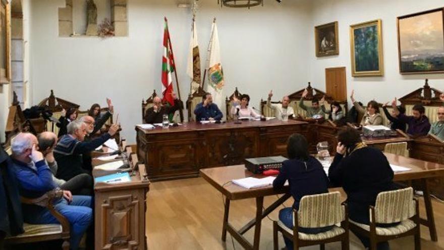 Pleno municipal del Ayuntamiento de Hondarribia del pasado mes de marzo