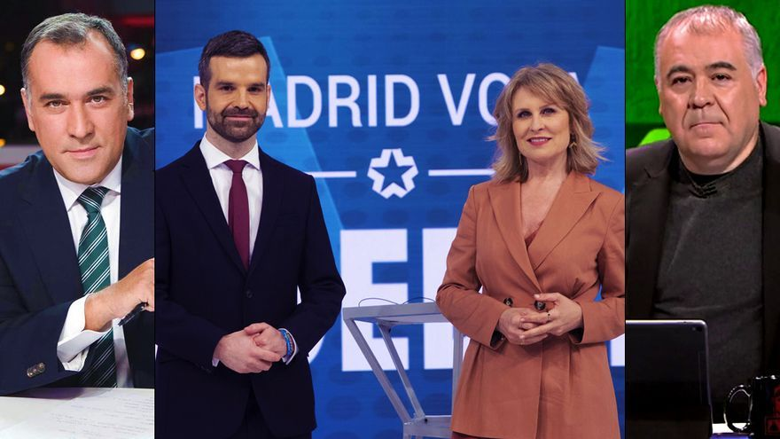 Cobertura de TVE, Telemadrid y laSexta para el primer debate del 4M