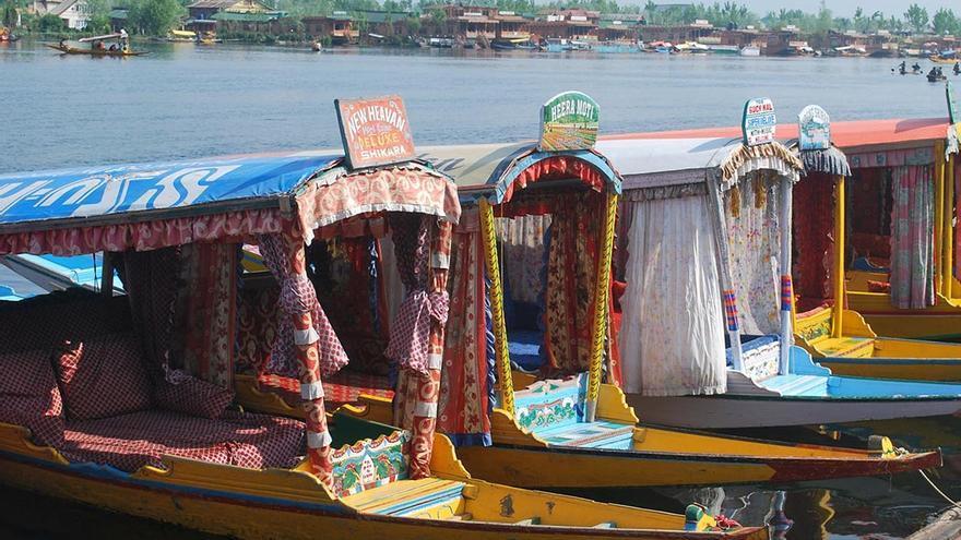 Casas barcos, en el estado de Kachemir. CANARIAS AHORA