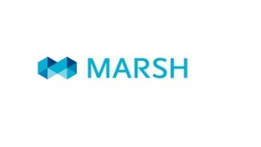 Logo de la correduría de seguros y consultoría de riesgos Marsh.