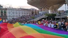 La marcha del Orgullo de Andalucía reúne a 30.000 personas por la igualdad LGTBi en el mundo