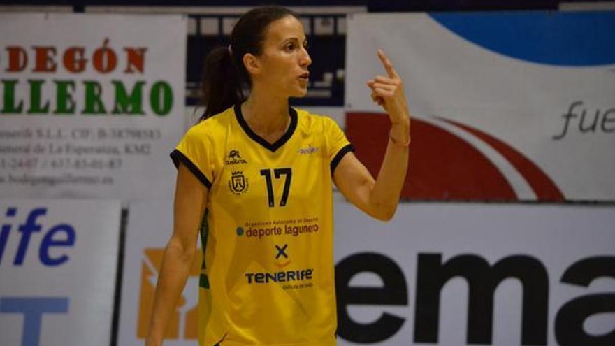 La jugadora del CV Aguere, Arkia El-Ammari. (twitter oficial CV Aguere).