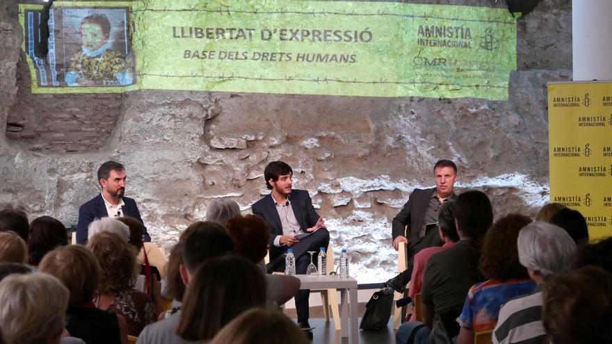 Ignacio Escolar, Alberto Aznar y Joaquim Bosch en Valencia