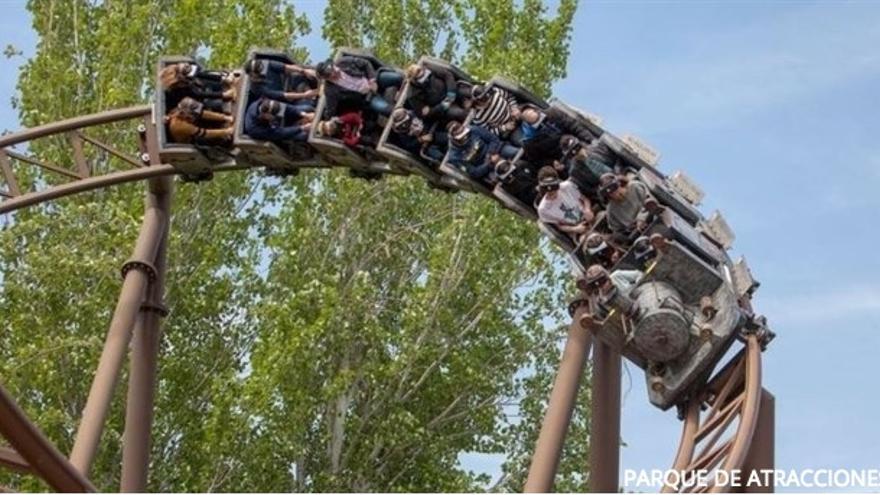 La atracción 'Tren de la Mina'. Foto de Parque de Atracciones de Madrid