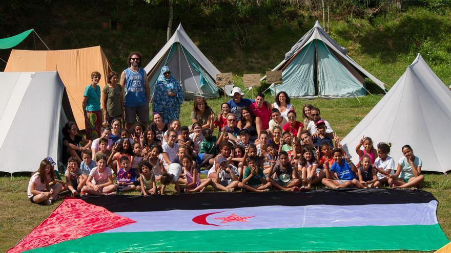 Niños saharauis del programa Vacaciones en Paz de Cantabria.