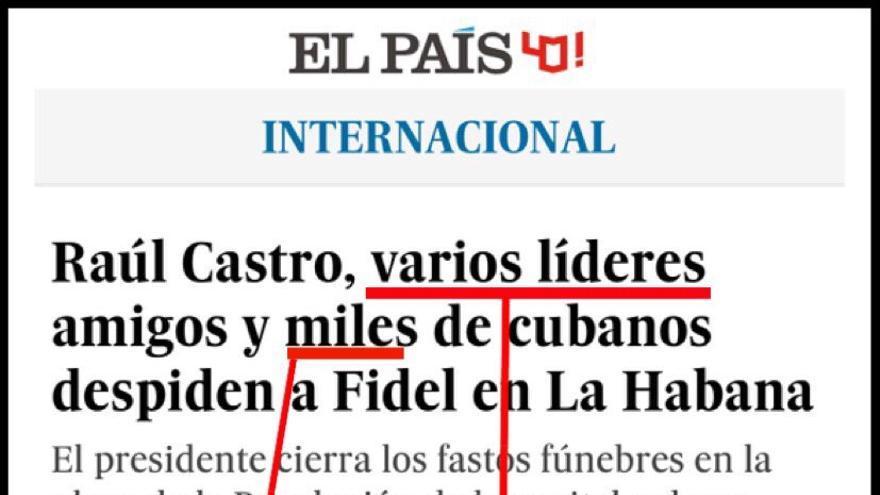 Comparativa entre los diarios El País y La Nación