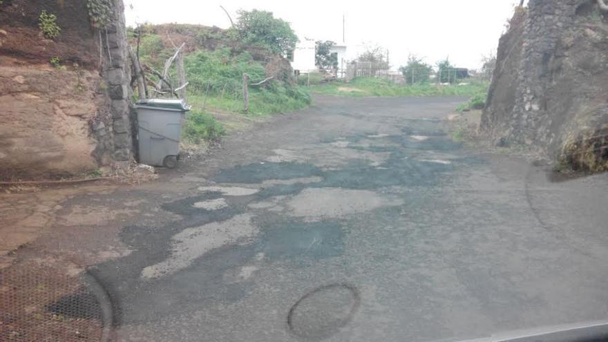 Imagen facilitada por CC en Puntallana de un tramo de la carretera.