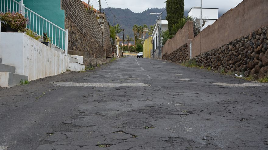 Camino de La Caldera, en Los Llanos de Aridane.