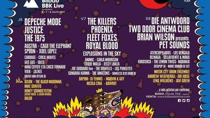 Bilbao BBK Live anuncia su cartel por días y confirma a 17 bandas más