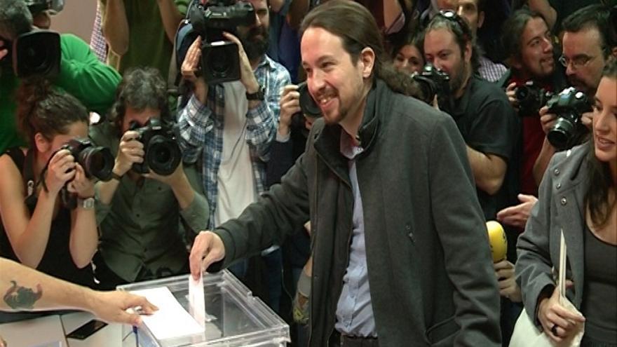 """Pablo Iglesias pide una alta participación y dice que Podemos ha hecho """"sus deberes"""""""