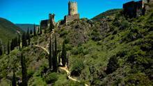 Los cuatro castillos de Lastours, en el País de los Cátaros (Francia).