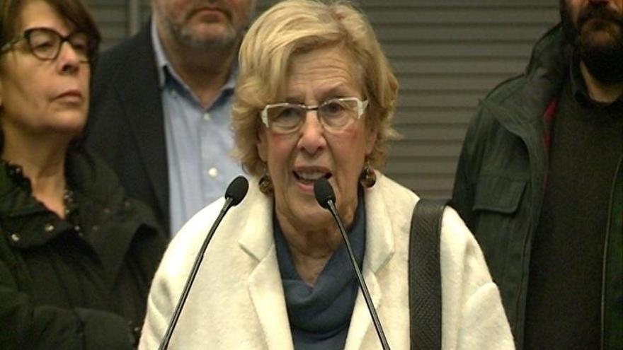 """Carmena dice que no es """"nadie"""" para opinar sobre la postura de Podemos respecto a Cataluña"""