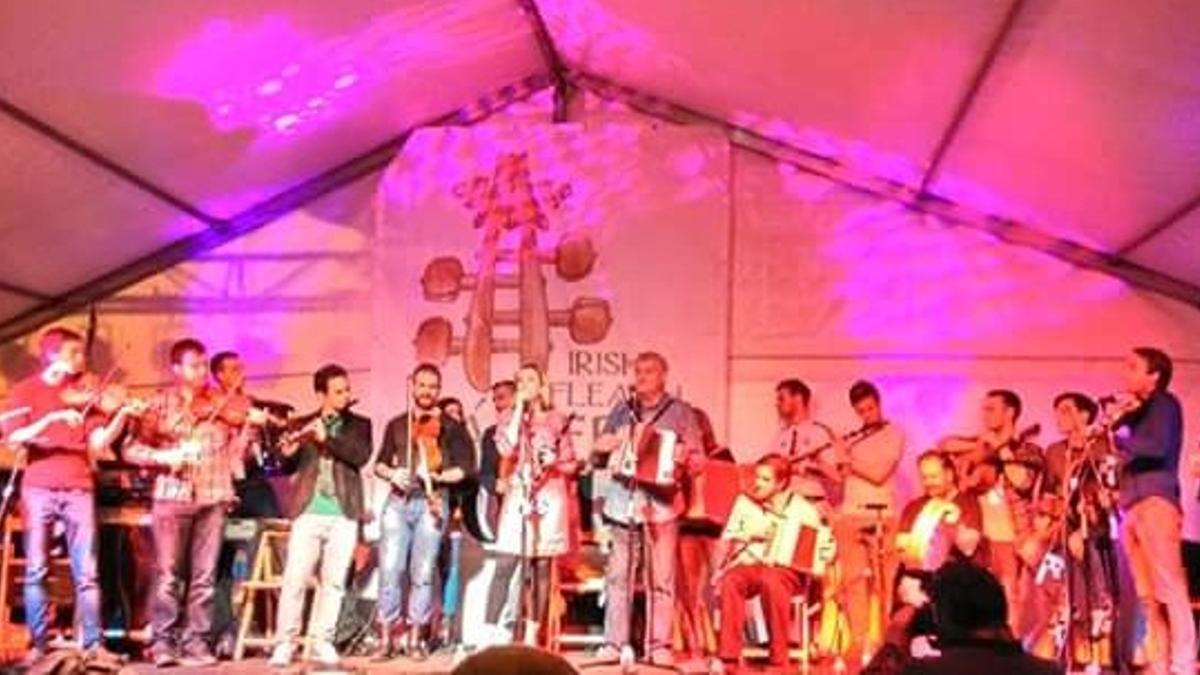Una de las actuaciones del festival Irish Fleadh de Cáceres. Archivo