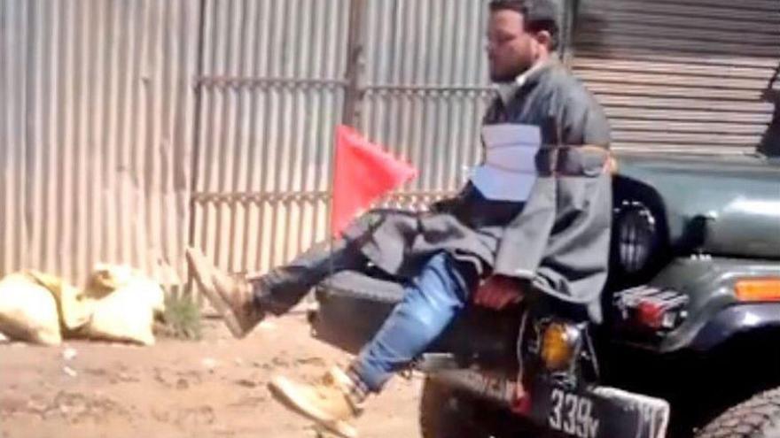 El ejército indio dice que los escudos humanos son una táctica innovadora