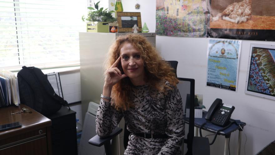Raquel Marín, en su despacho de la ULL