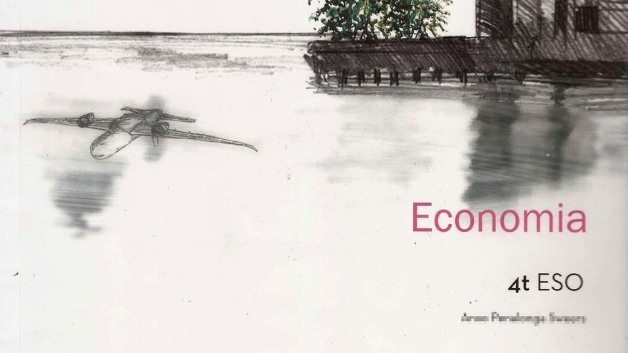 Portada del libro de texto Economia que se usa en 4ª de ESO en centros públicos catalanes