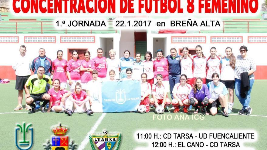 Cartel de la concentración de Fútbol 8 femenino.