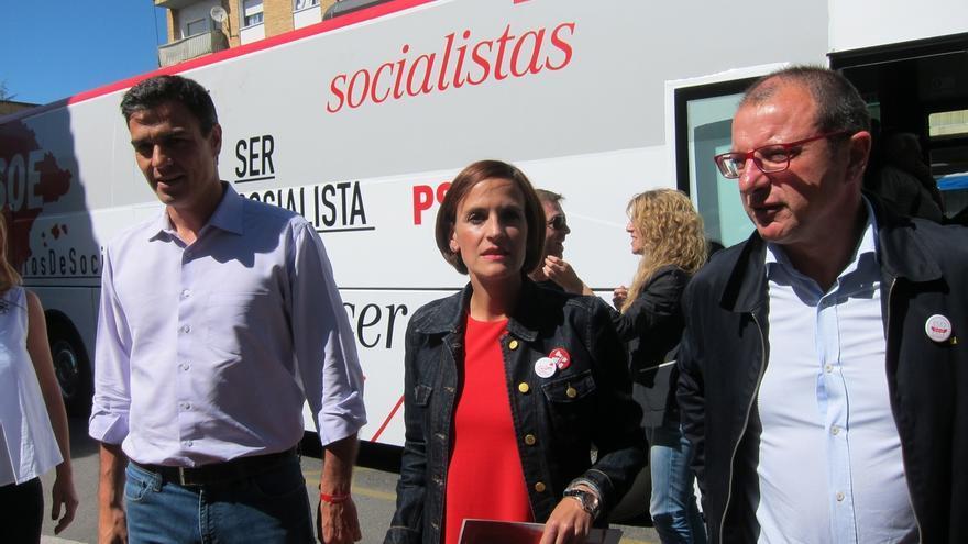 """Pedro Sánchez defiende que Navarra """"necesita otro destino de justicia, honestidad e igualdad"""""""