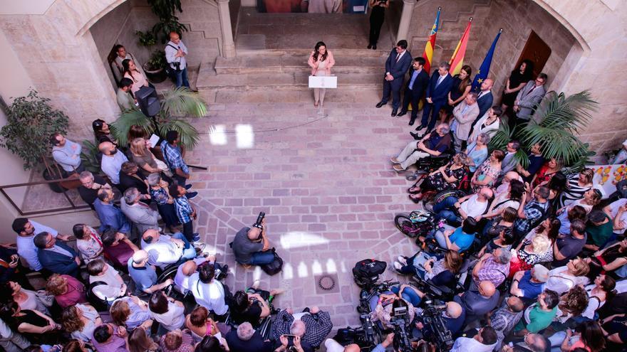 Mónica Oltra durante su toma de posesión como consellera de Igualdad y Políticas Inclusivas