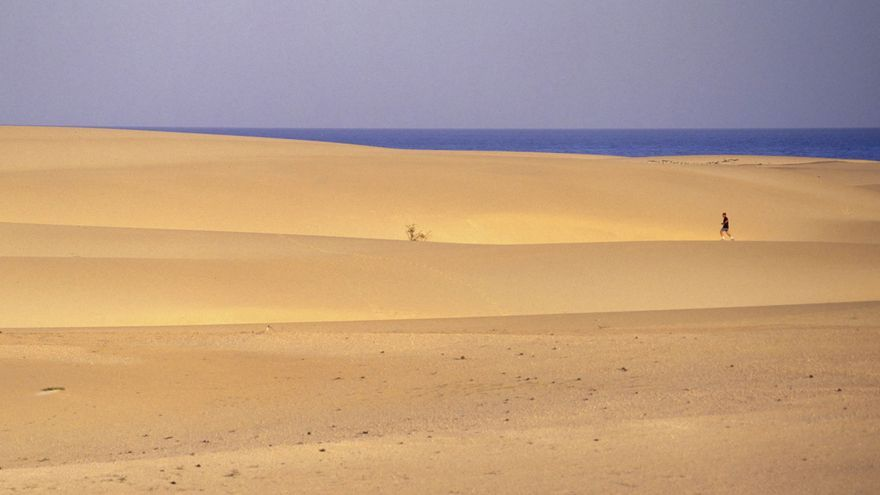 Las dunas de Corralejo (Fuerteventura).