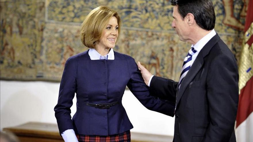 María Dolores de Cospedal y José Manuel Soria, en una imagen de archivo.