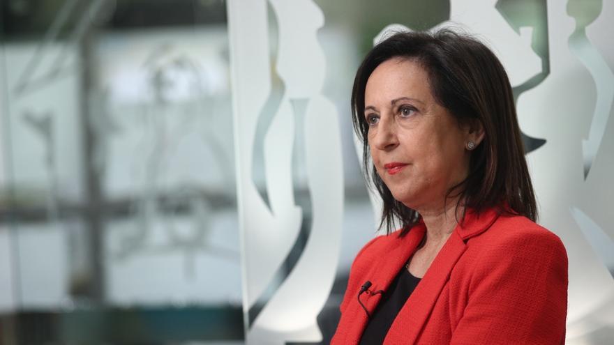 """Margarita Robles, una de las diputadas que votó """"no""""."""