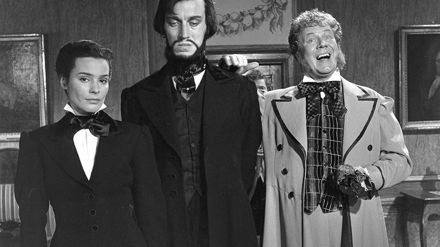 Tres personajes de 'El rostro', una de las obras más gozosas del realizador sueco
