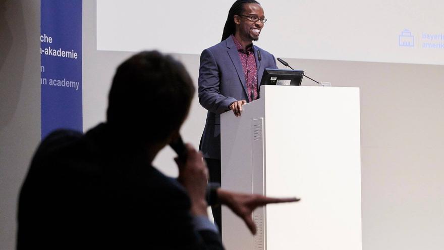 El historiador Ibram X. Kendi en una conferencia en 2018.