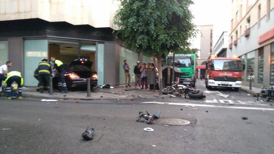 Accidente en la capital grancanaria