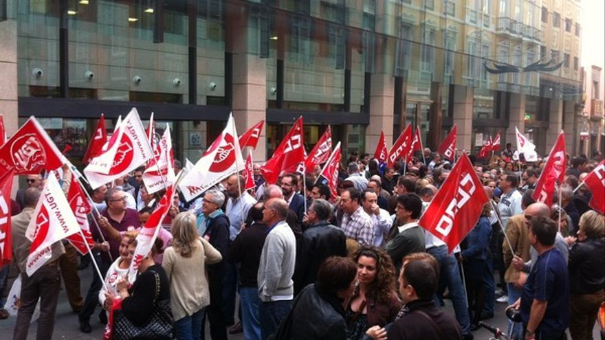 Protesta de empleados de Bankia en LPGC #4