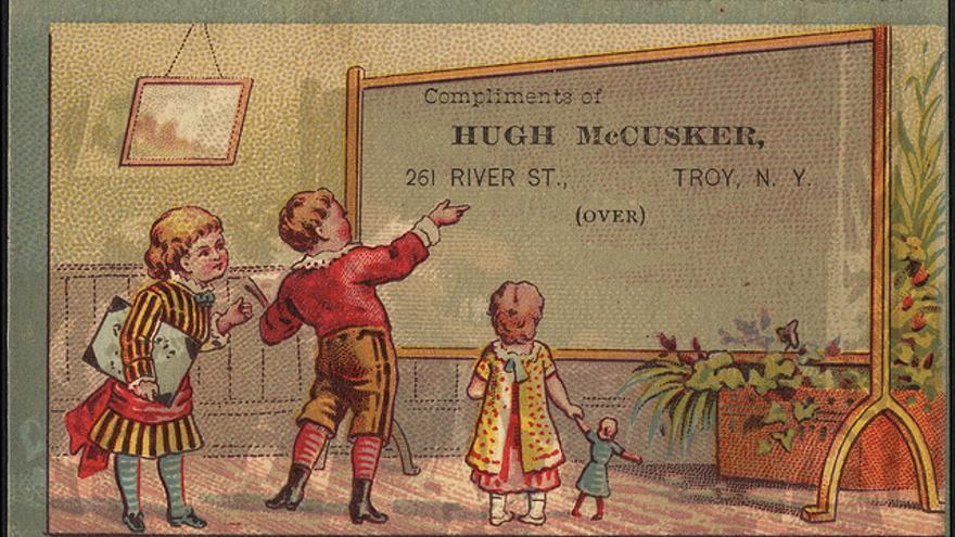 Antigua tarjeta del siglo XIX