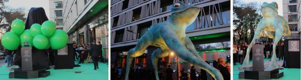 Inauguración de la estatua de la rana gigante donada por el Casino Gran Madrid | Fotografía: SOMOSCHUECA