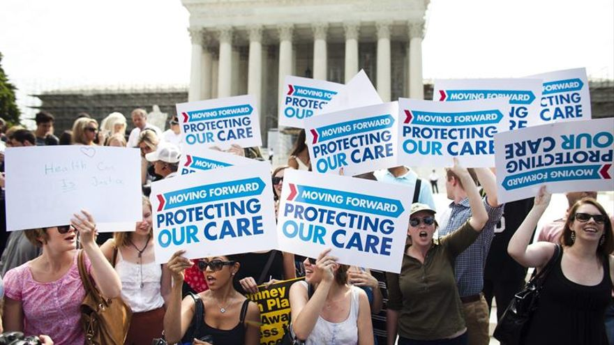 Manifestación en Estados Unidos en defensa de la Sanidad Pública