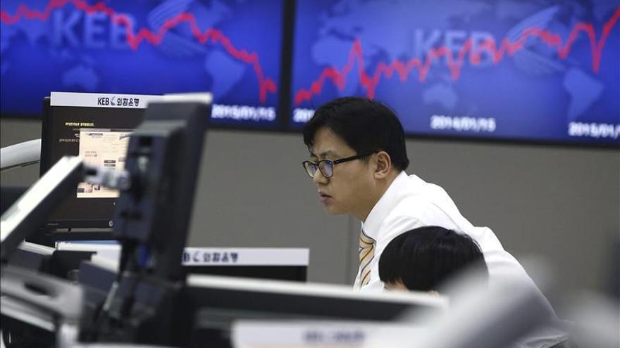 El Kospi surcoreano baja un 0,70 por ciento hasta los 2.015,45 puntos