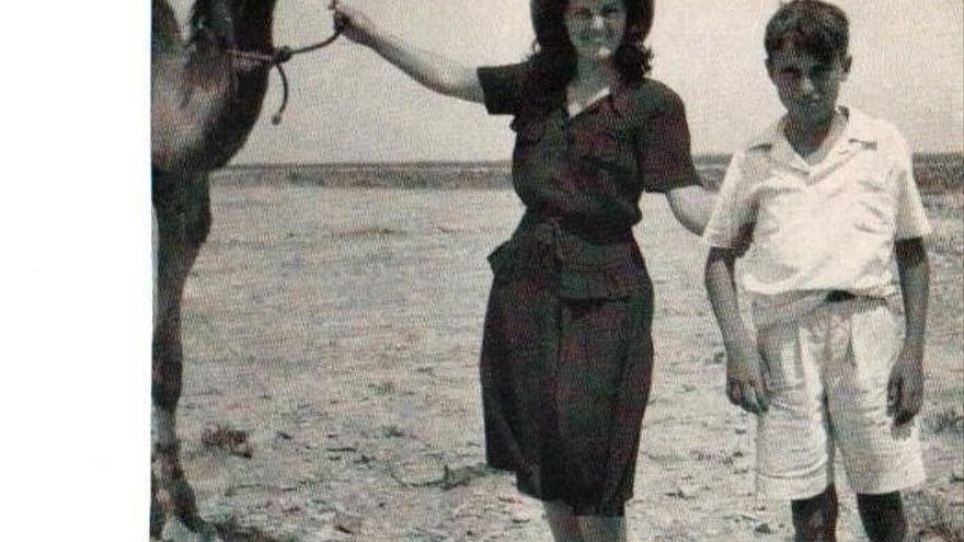 Con mi tía en el desierto, en 1949